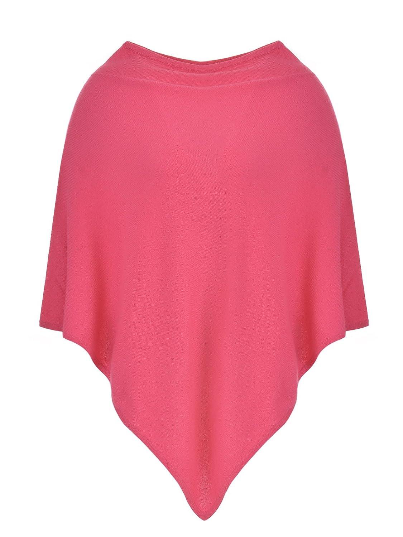 MILANO ITALY Damen Poncho Cardigan 100% Kaschmir, pink