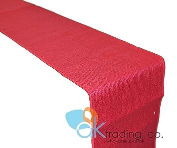 Amazon.com: ak-trading Color Rojo De Arpillera Yute – Camino ...