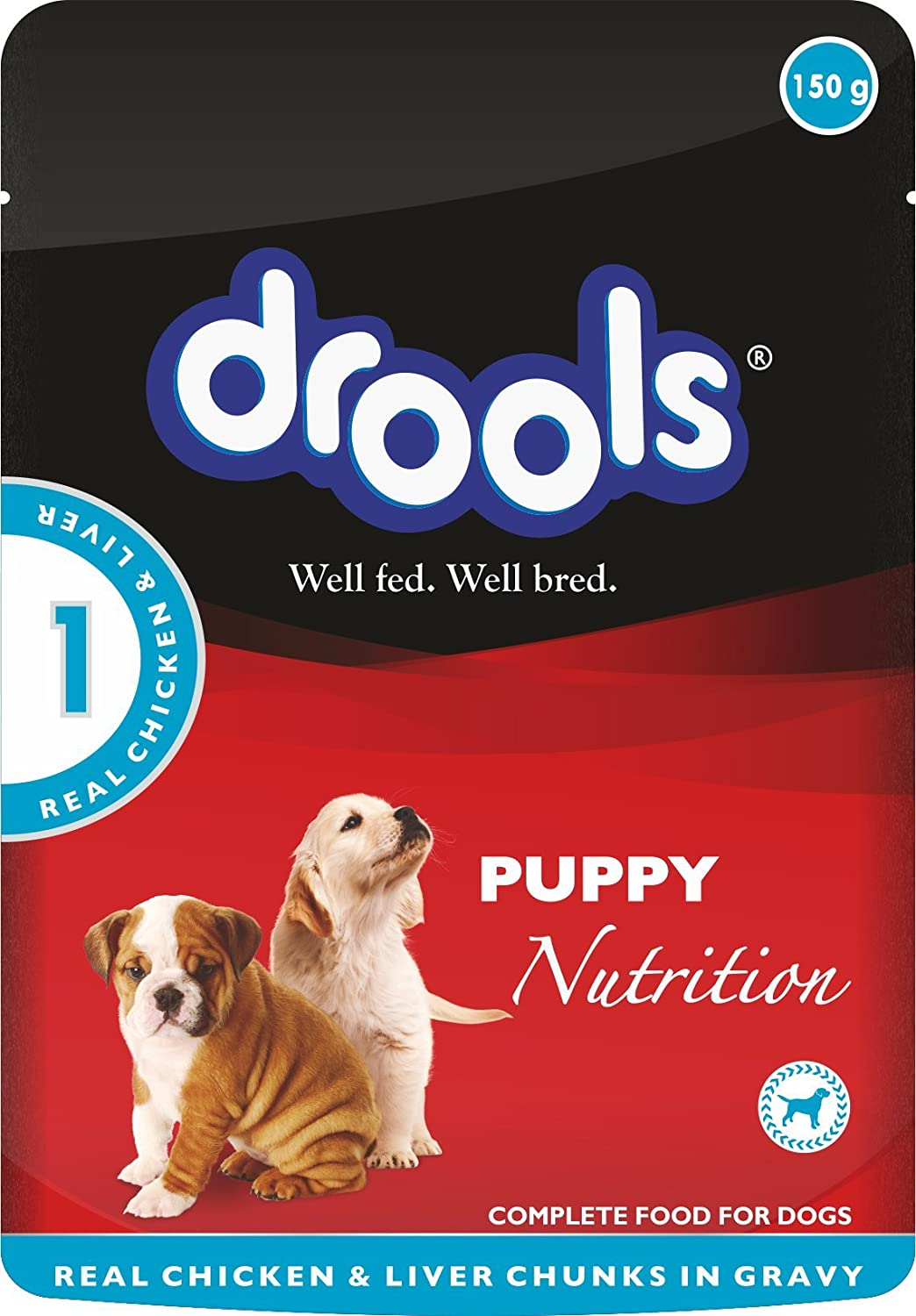 Drools Chicken And Liver Wet Dog Food Pouch 100 G Amazon In Pet Supplies