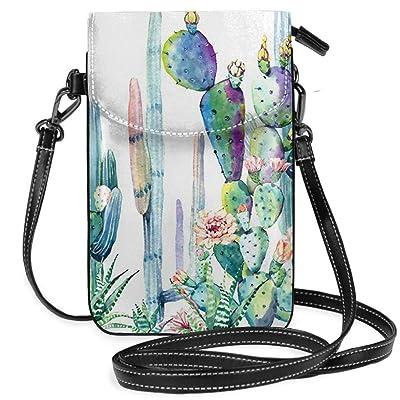 Cell Phone Purse Wallet - Women's Small Cactus Watercolor Paint Crossbody Bag Handbag: Equipaje
