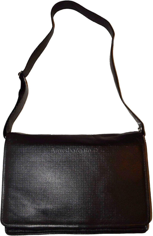 New Leather Briefcase case Attach/é case BNWT Black Business Messenger Bag Bag