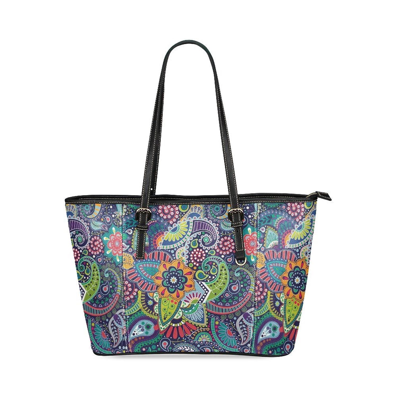 Flower Women's PU Leather Large Tote Bag/Handbag/Shoulder Bag