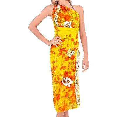 *La Leela* maillots de bain jupe bikini doux rayonne coverup enveloppement d'hibiscus sarong 78x43inch