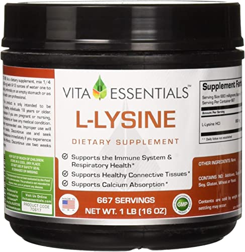 Vita Essentials L-lysine Powder, 1 Pound