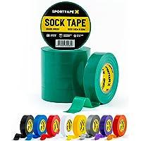 SPORTTAPE Sock Tape Pack van 6 - GROEN - 1,9 cm x 20 m - PVC voetbal Rugby Boot Tape - Beste voor het bijhouden van…