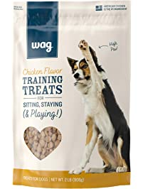 Amazon Brand – Wag Training Treats for Dogs (Chicken, Peanut Butter & Banana, Hip & Joint)