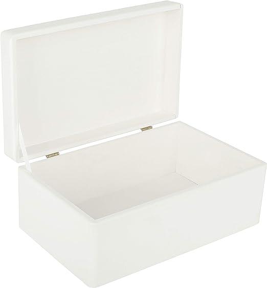 Creative Deco Blanca Grande Caja de Madera para Juguetes   30 x 20 ...
