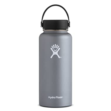 Hydro Flask 32 oz Water Bottle | Stainless Steel & Vacuum Insulated | Wide Mouth with Leak Proof Flex Cap | Graphite