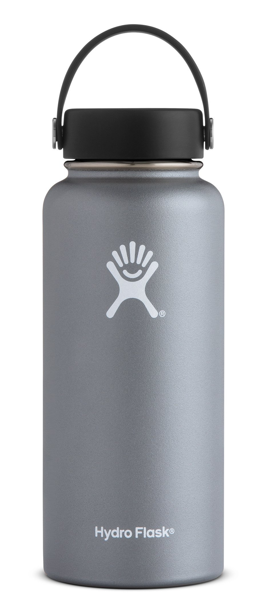 Hydro Flask 32 oz Double Wall Vacuum Insulated Stainless Steel Leak Proof Sports Water Bottle, Wide Mouth with BPA Free Flex Cap, Graphite