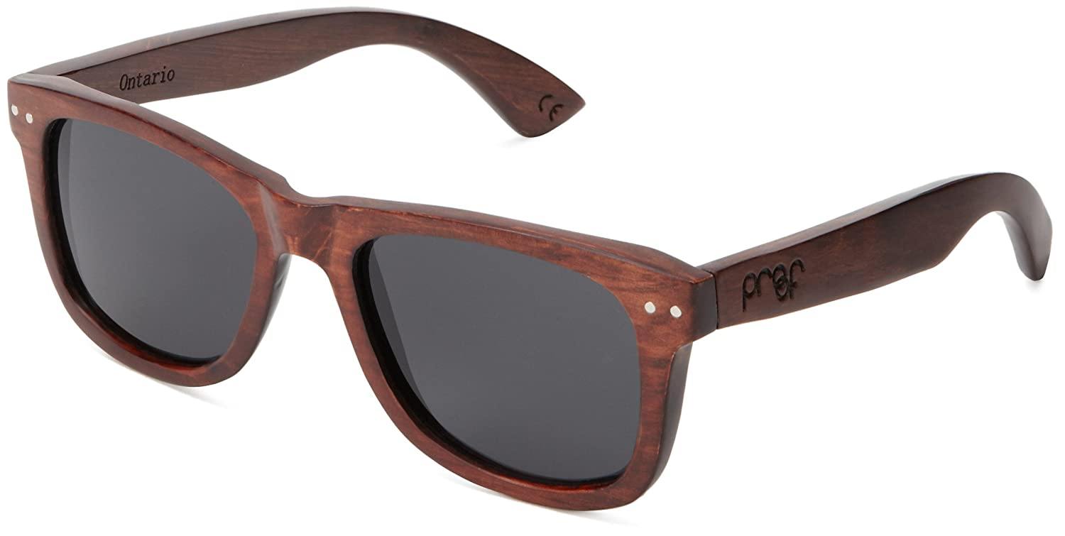 56b6228cb9f3e Proof Eyewear Unisex Chinook Float Eco Wood Handcrafted Water Resistant  Wooden Sunglasses