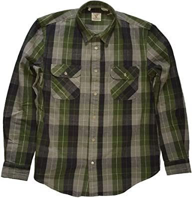 LEVIS VINTAGE CLOTHING - Camisa casual - para hombre quadri VERDE S: Amazon.es: Ropa y accesorios