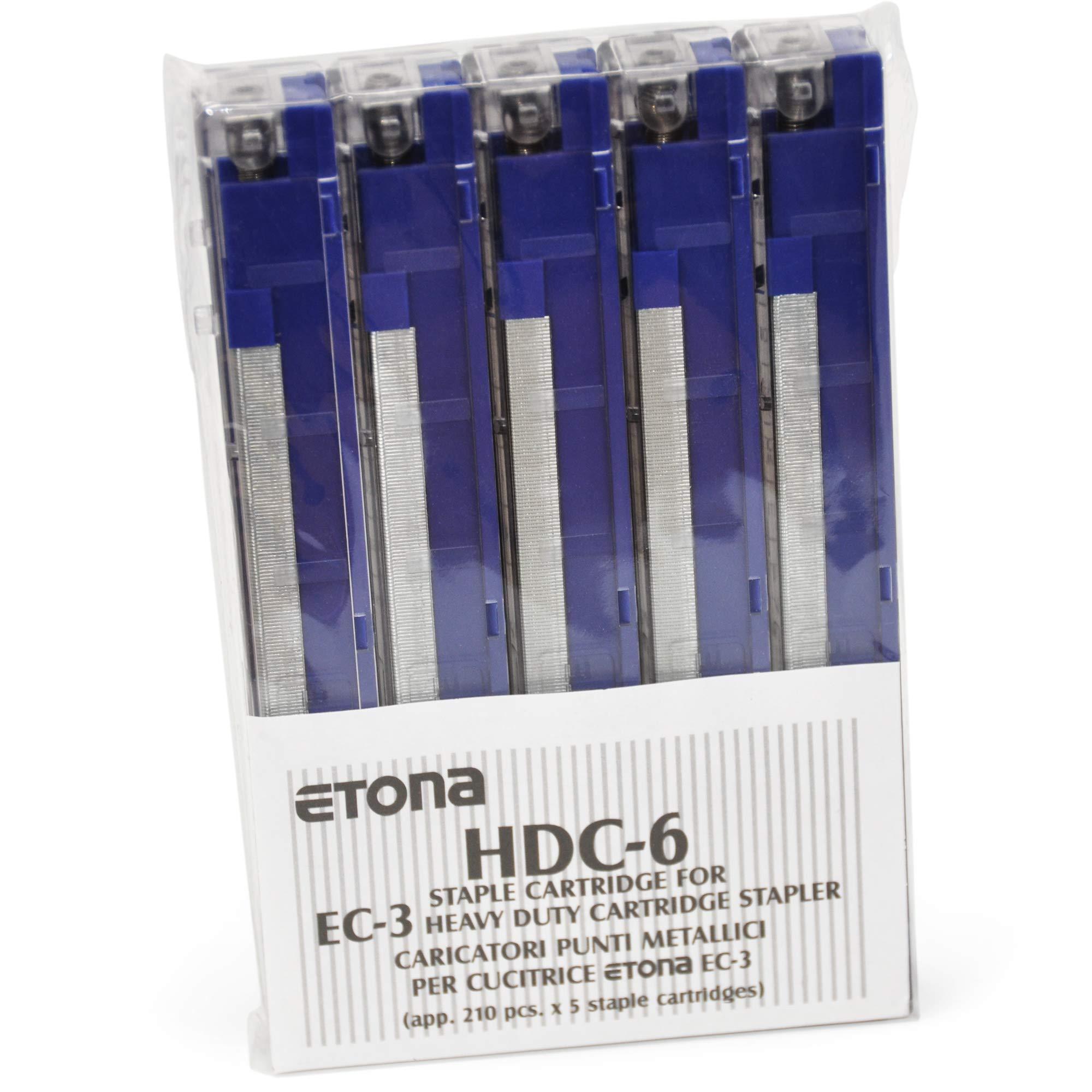 Etona HDC 6 Blue Staples Cassette Refills (2-25 Sheets) for Etona EC3 by ETONA