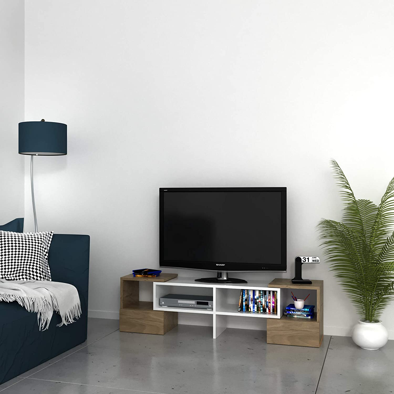 Bravo Home TV Unit (Walnut And White)