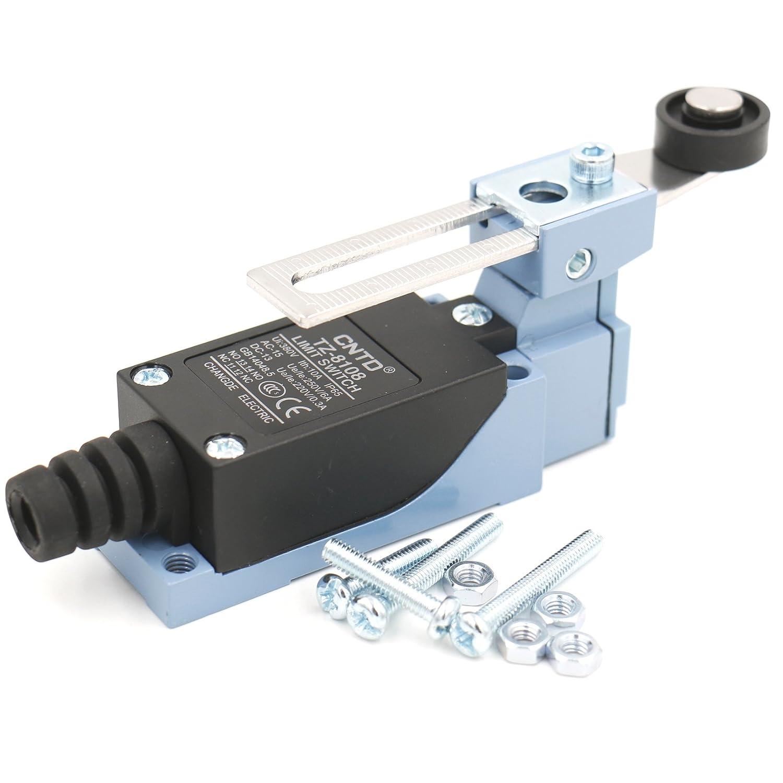 Heschen Cntd Limit Switch Tz-8108/Rouleau r/églable Levier 10/A 250/VAC Spdt momentan/é pour CNC Moulin Plasma IP65