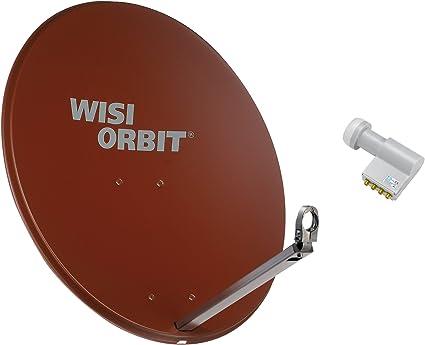 Wisi Satellitenschüssel Set Rotbraun 80 Cm Für 4 Elektronik