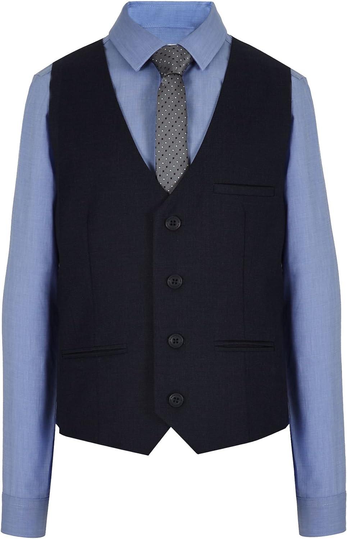 Rjr. John Rocha infantil – niño azul marino chaleco, camisa y ...