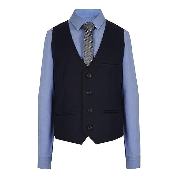 Rjr. John Rocha infantil - niño azul marino chaleco, camisa y ...