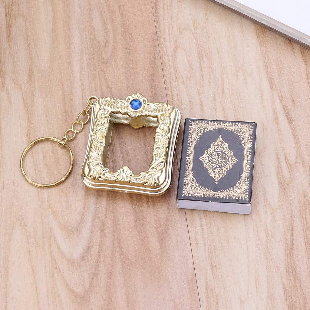 RG-FA Mini Arche Coran Livre du Coran V/éritable Papier Peut lire Arabe Porte-cl/és Bijou musulman