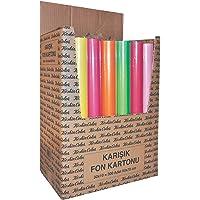 Keskin Color 201101-99 Karışık Poşetli Fon Kartonu A4 Ebadında, Çok Renkli, 10 Parça, 35x50 cm
