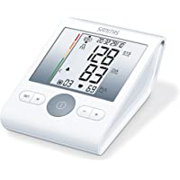 Sanitas SBM 22 Oberarm-Blutdruckmessgerät (mit Manschettensitzkontrolle, farbige Einstufung der Messergebnisse)
