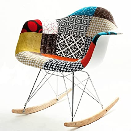 Fine Mod Imports FMI10098 Colored Patterned Rocker Arm Chair