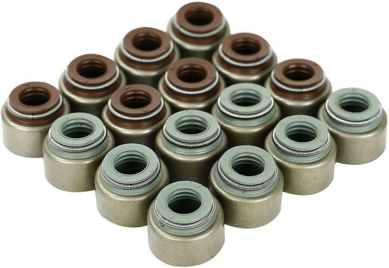 Non-VTEC TYFYB Valve Stem Seals Standard 6.6mm Viton Valve Stem Seals Kit Compatible with 1990-1993 Acura Integra RS//LS//GS 1.8L B20B4//B20Z2 B18A1 1997-2001 Honda CRV 2.0L