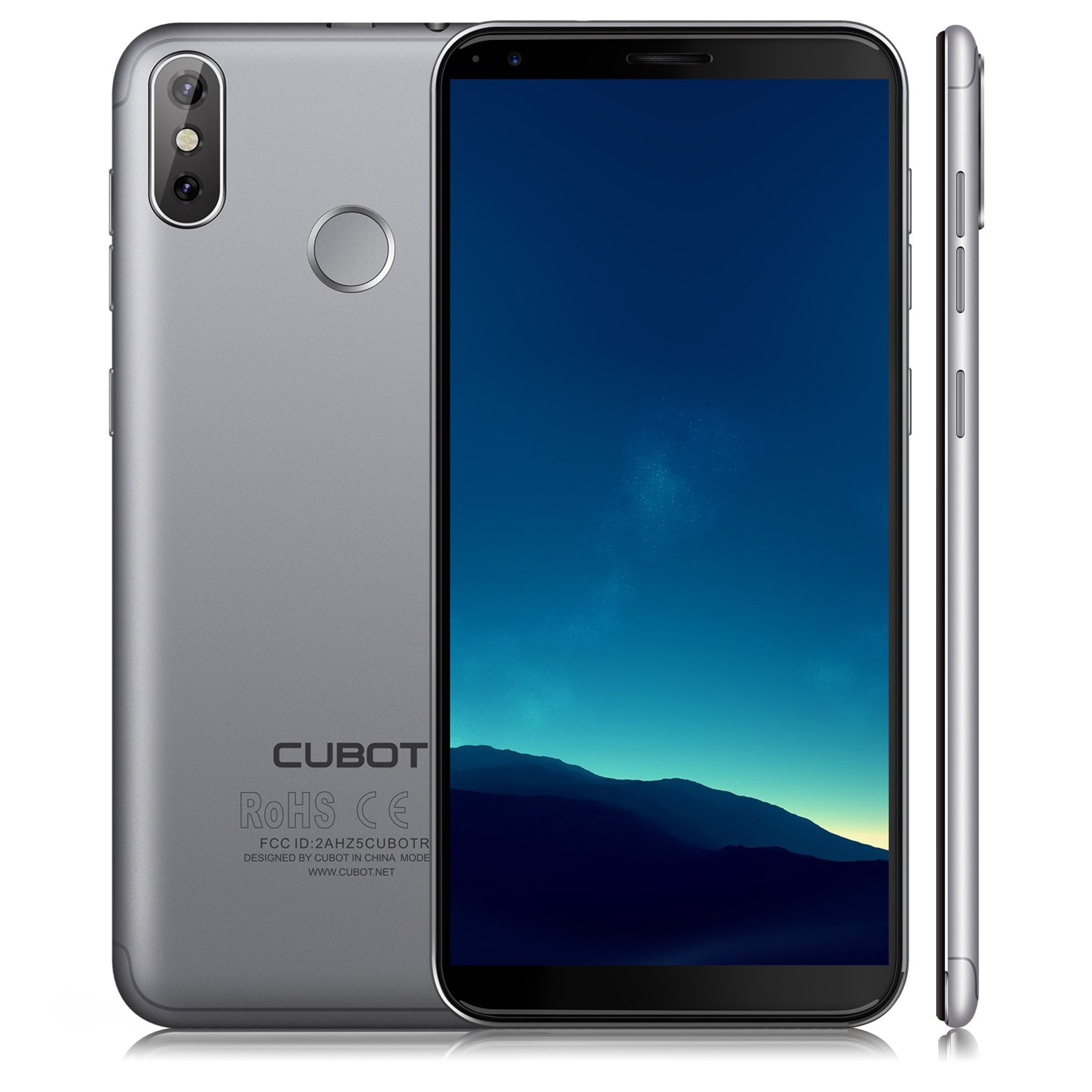 CUBOT R11(2018) Android 8.0 Smartphone Unlocked, 18:9 FHD 5.0 inch Touch Screen Sim Free Mobile Phone, Android 8.0, 3G Dual SIM,2GB RAM+16GB ROM,13MP+8MP Dual Camera, WIFI, GPS,Bluetooth (GRAY)