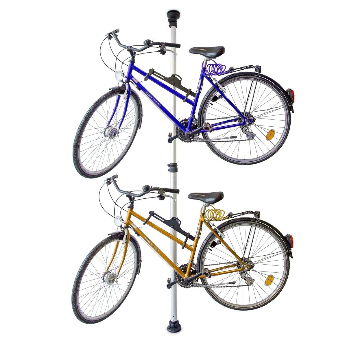 Relaxdays Support de vélo télescopique pour 2 vélos réglable 160-340 cm 30%OFF