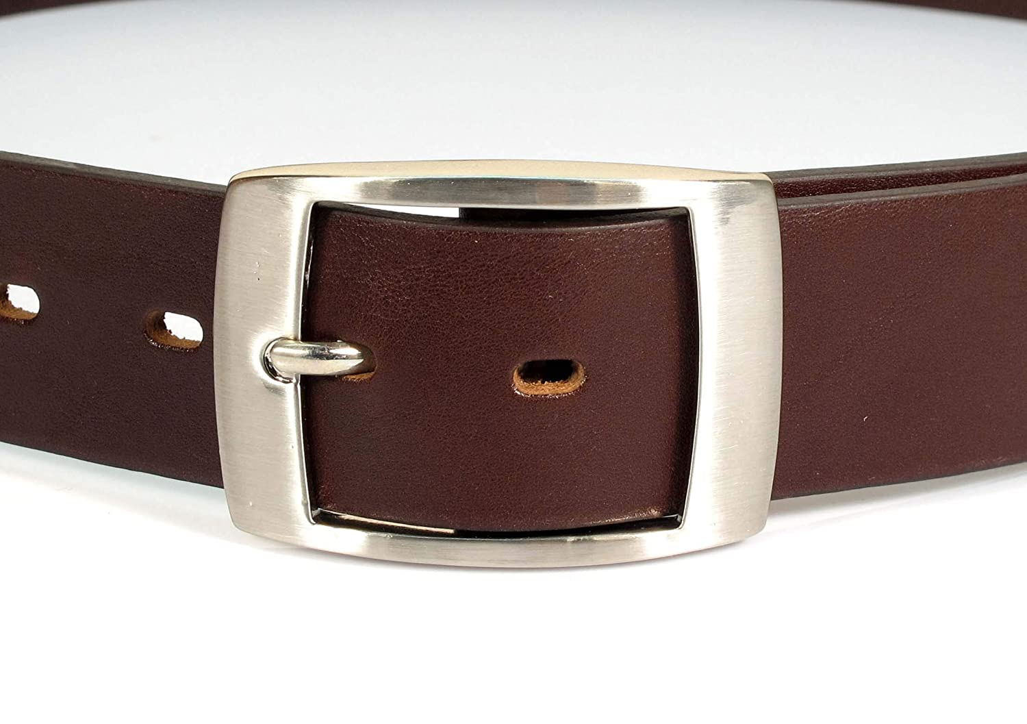 TW6 Womens Real Genuine Leather Belt Black Brown White 1.5 Wide S-XL Casual Jeans