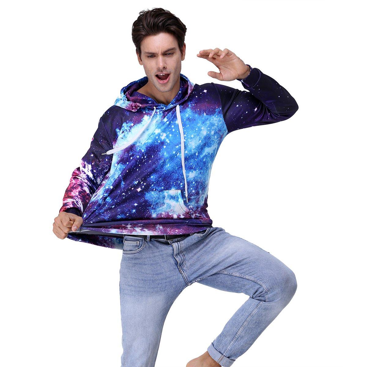 Youvimi Unisex 3d Printed Drawstring Pockets Pullover Sweatshirt Hoodie Hooded Sweatshirt