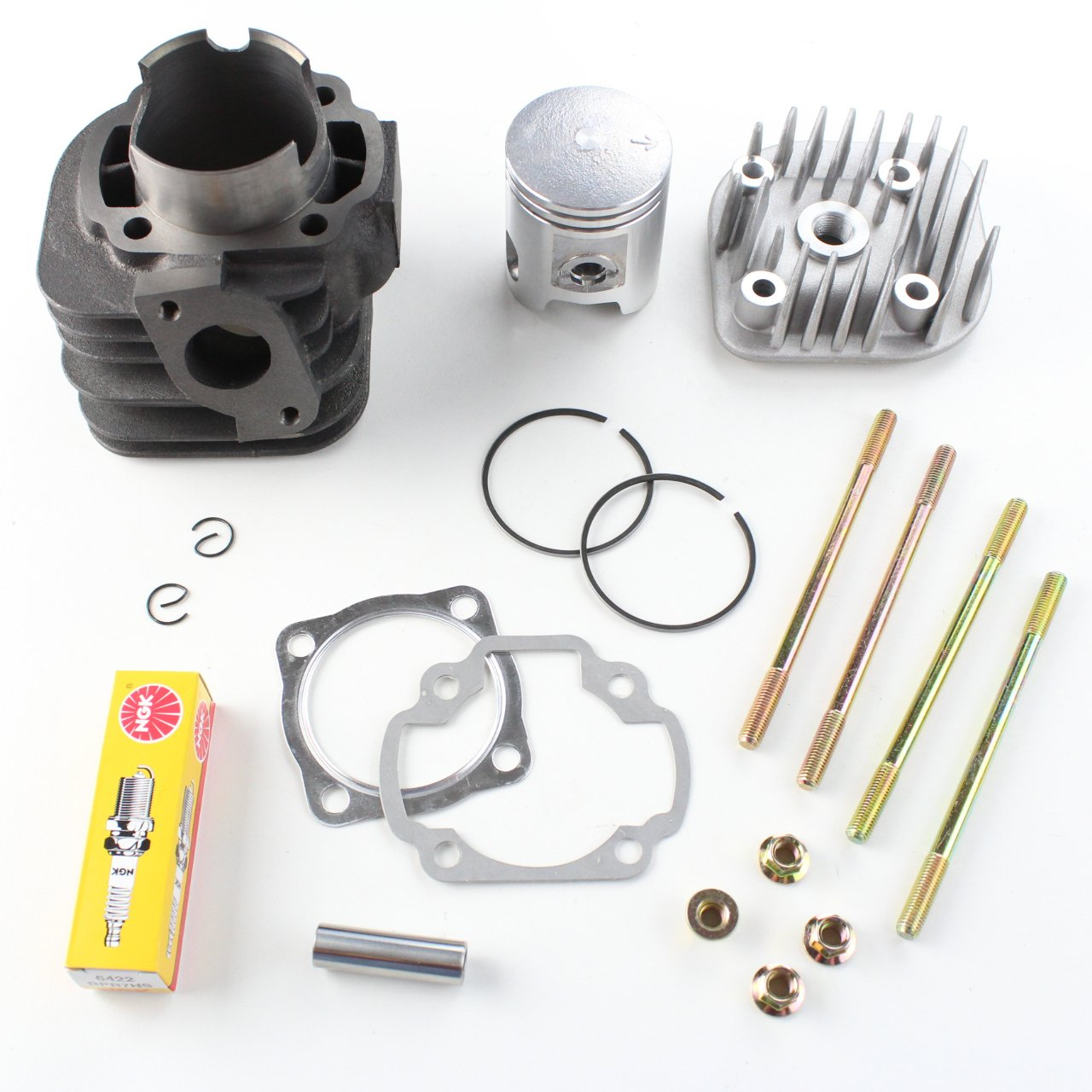 52mm 89cc Cylinder Head Piston Gasket Kit 2001-2006 Arctic Cat BRP Can-Am Polaris Predator Scrambler Sportsman DS 90 8TEN