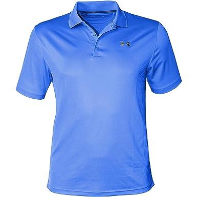 Under Armour Mens Performance Shirt HeatGear Polo (Large, Blue ...