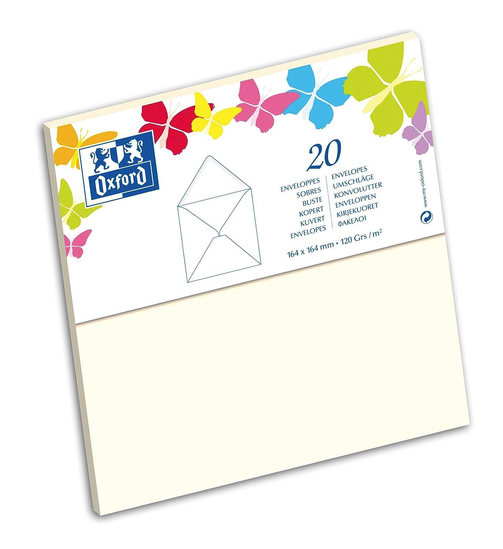Oxford Pack de 20 enveloppes 164x164mm Violet 100100550 faire part correspondance naissance mariage baptême 3020121696071
