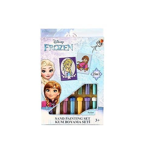 Set Gioco Frozen Elsa Anna Disney Bambina Immagini Di Sabbia 2 In