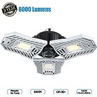 Amiluo Life 60-watt Deformable LED Garage Ceiling Light