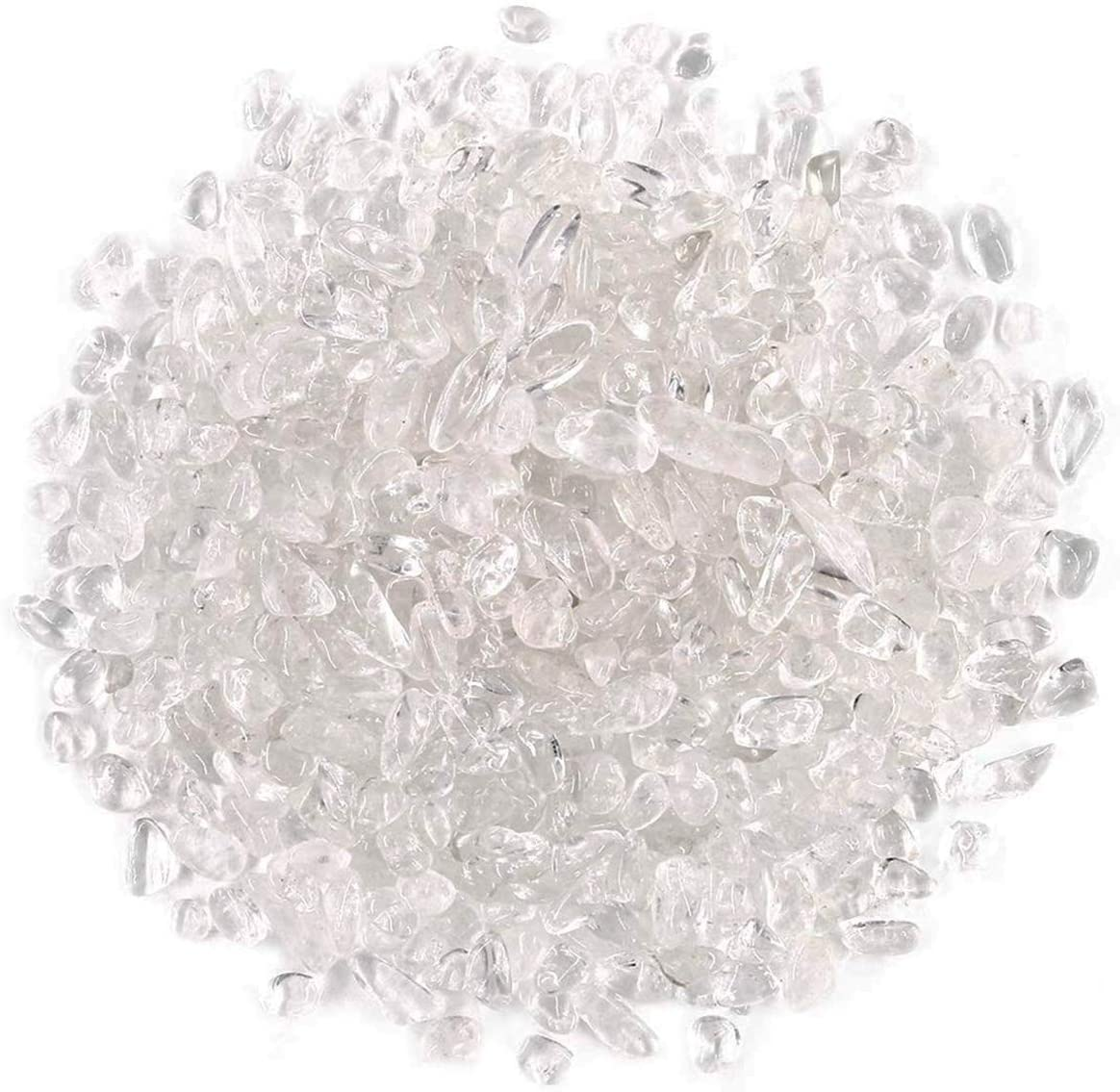 WAYBER 1 Lb/460g Irregular Decorative Pebbles Crystal Quartz Stones Rock Sand for Aquarium/Fish Turtle Tank/Vase Fillers/Air Plants/Succulent Plants Decor
