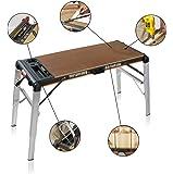 Banco tavolo da lavoro pieghevole a muro 100 x 80 x h 85 cm fai da te - Tavolo da lavoro pieghevole ...