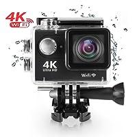 CIC Câmera Sports Prova d´água Fotográfica WiFi Original Filmadora DV Ultra HD 4K 30fps 30m, Preto