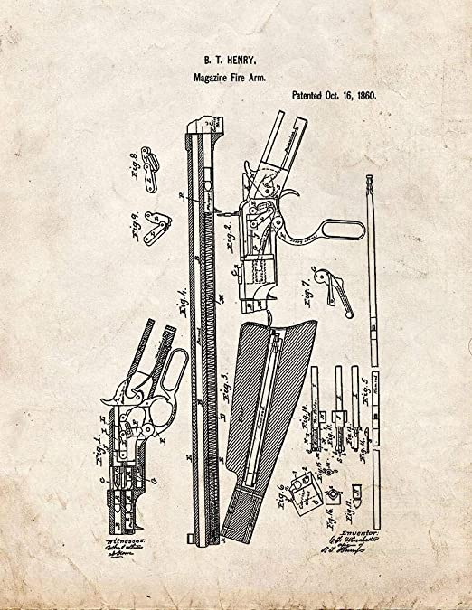 Henry Rifle Patent Print Old Look
