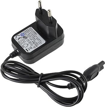SPARES2GO 2 Pin Cable de cargador plomo y enchufe para afeitadora ...