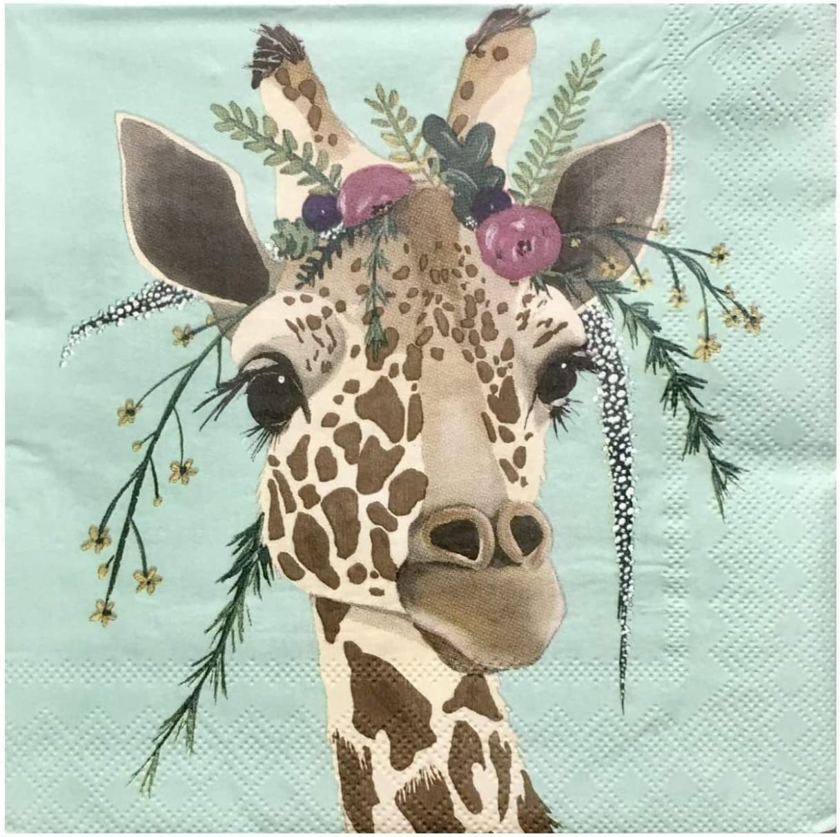 2 ct Individual Single Claire Giraffe Paper Luncheon Napkins, PLN28