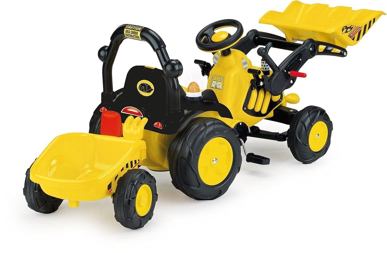 INJUSA - Tractor Toony con Remolque, Pedales, Accesorios, Sonidos y Luces (410)
