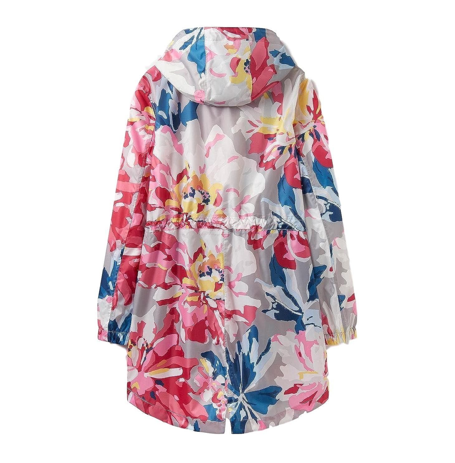 Grey Whitstable Floral Joules Golightly Waterproof Jacket