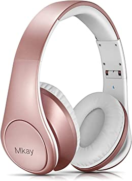 Rose Gold Wxy Bluetooth Headphones Over Ear On Headsets Volume Control Kids Women In Cell Phones