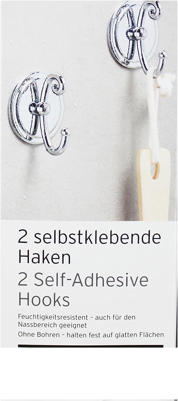 TCM Tchibo 2 selbstklebende Haken Badhaken Handtuchhalter Handtuchhaken