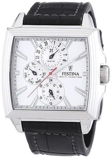 Festina F16586/1 - Reloj analógico de cuarzo para hombre con correa de piel,