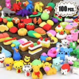 POKONBOY 100Pcs Animal Pencil Erasers for Kids, Mini Puzzle Erasers Take Apart Novelty Erasers for Party Favor Carnival…