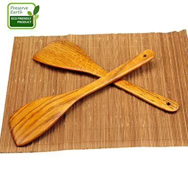 Hand Made Large Olive Wood Salad Server Set - 2 Piece Wooden Salad Tongs Skillfully Designed & Crafted in South Africa