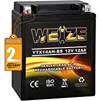 $42 » Weize YTX14AH-BS High Performance - Maintenance Free-Sealed AGM ATV…