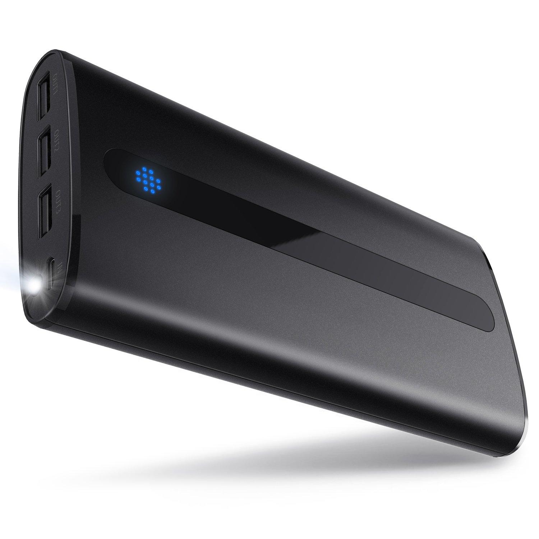 Sipu Batería externa 24000mAh Ultra-Ligera Cargador de móvil externo Batería...